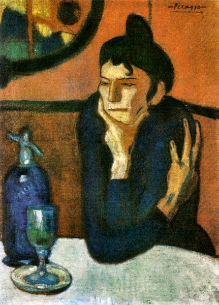 アブサンを飲む女性