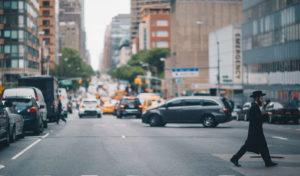 マンハッタンの街の画像