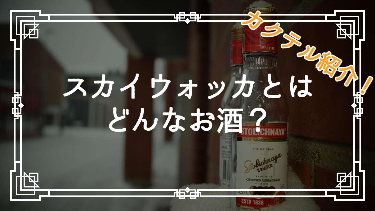 スカイウォッカとはどんなお酒?
