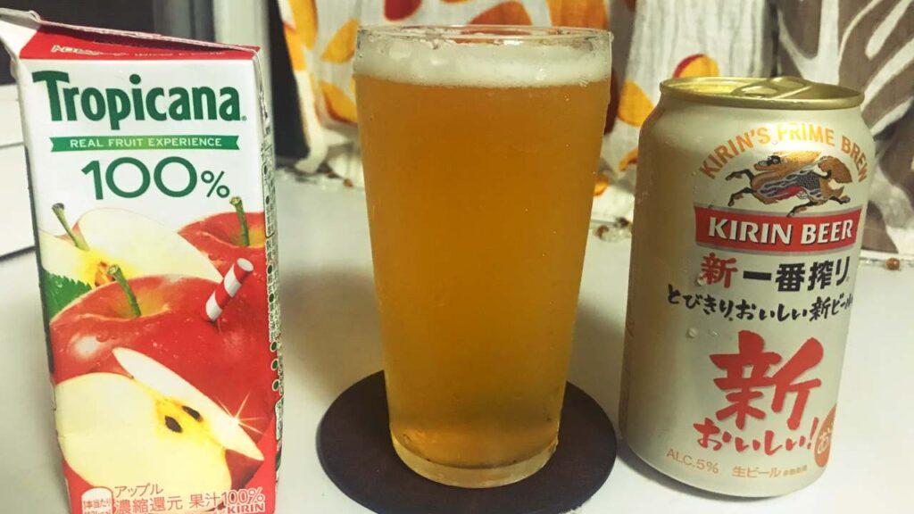 ビールりんごジュースの画像