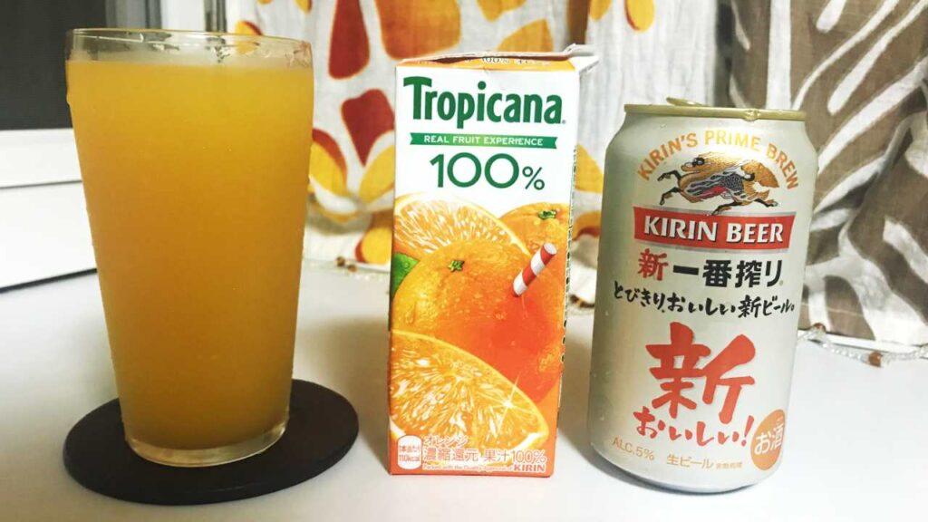 オレンジビールの画像